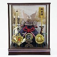 五月人形 兜ケース飾り 松葉 ケース飾り オルゴール付 GOFO-135-716 藤翁作