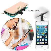 Helmax マイクロポータブル2イン1 USBミニファン iPhoneとAndroidスマートフォン用