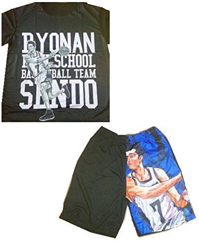 SLAMDUNK スラムダンク 陵南高校 7番 仙道彰 Tシャツ Lサイズ & ハーフパンツ