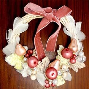 クリスマスリース【 クリスマス 飾り ギフト お祝い お誕生日 】 白い羽の ウィンター リース(造花)