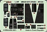 エデュアルド 1/48 スペース MV-22 内装3Dデカール・エッチングパーツセット (ホビーボス用) プラモデル用デカール EDU3DL48019