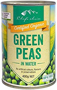 Chef's Choice Organic Green Peas in Water 400 g