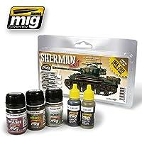 AmmoのMig Jimenez Furyシャーマンセットアクリル5 Jars # 7427