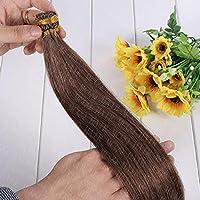 FidgetGear 100 / 200SケラチンスティックI Remy人毛エクステンション16-24インチフルヘッド #06ダークチョコレートブラウン