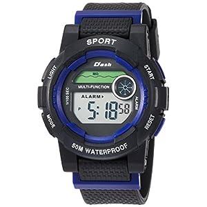[アリアス]ALIAS 腕時計 デジタル DASH 5気圧防水 ウレタンベルト ブルー ADWW17100-02 メンズ