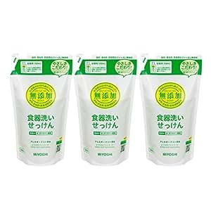 【セット品】無添加食器洗いせっけん 詰替 350ml×3