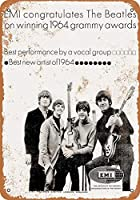 [ZUNYI]ブリキ看板 Beatles 1964 Grammys 復古風壁の装飾家、パブ、ビール、ガレージ、庭、コーヒー[20x30cm]