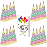 ユニコーンパーティー帽子セットfor 16 Guests byパーティは、単純な