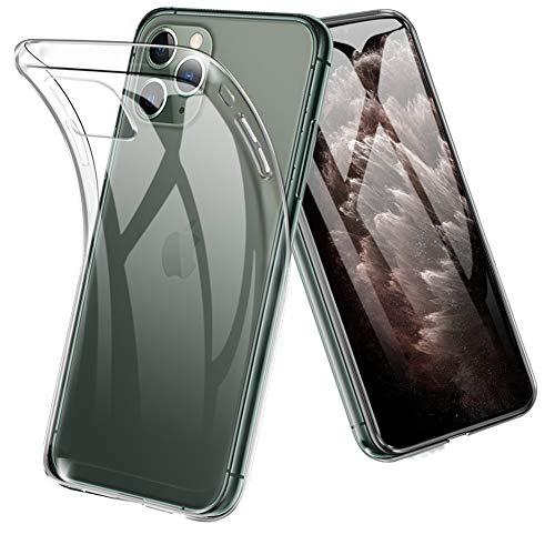iPhone 11 Pro ケース 5.8 インチ 対応 TopACE 超スリム クリア TPU ソフトケース 落下防止 指紋防止 【ワイヤレス充電対応】 耐スクラッチ 全面保護 初期不良対応 iPhone 5.8 インチ 2019 対応 (クリア)