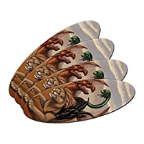 キメラ - 神話クリーチャーファンタジーライオンドラゴンヤギ楕円形ネイル File エメリー Board 4 Pack