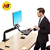 [(NBノースバイユー) NB North Bayou] [North Bayou Monitor Desk Mount Stand Full Motion Swivel Monitor Arm Gas Spring for 22``-35`` Computer Monitor from 6.6 to 19.8lbs] (並行輸入品)