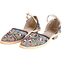Indian Handicrafts Export Women Stylish Design Handmade Jute Ballerina Sandals