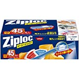 ジップロック イージージッパー スライド式ジッパー付き保存袋 冷凍・解凍用 中 45枚入 (縦17.7cm×横20.3cm)