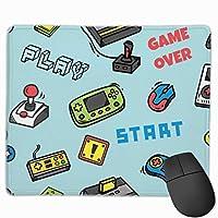 マウスパッド ビデオゲームの背景 ゲーミングマウスパット 最適 高級感 おしゃれ 防水 耐久性が良い 滑り止めゴム底 ゲーミングなど適用 マウスの精密度を上がる( 25*30 Cm )