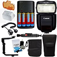 Canonスピードライト430ex iii-rtフラッシュfor Canon DSLRカメラwith究極Bundle–Includes :フラッシュディフューザー+充電器& 4x充電式電池+フラッシュブラケット+クリーニングペン+ 5Pieceクリーニングキット