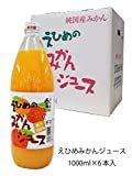 伯方果汁 えひめのみかんジュース 瓶 1L×6本 1箱