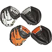 アディダス 軟式 野球用 カラー 捕手用 キャッチャーミット 右投用 シルバー×ブラック(X37001)