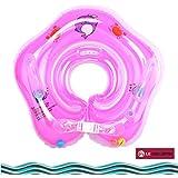 子供用 ベビー 浮き輪 首リング ボディリング スイミング ブルー (ピンク)