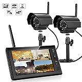TKS デジタル ワイヤレス 録画 セット 防水 暗視 カメラ 1台 搭載 SDカード 録画 室内 ベビー モニター 2.4G ワイヤレスカメラ ホーム セキュリティシス (カメラ1台セット) TKS-W8071