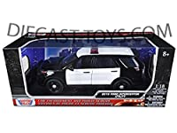 MOTORMAX-73542 2015 FORD UTILITY INTERCEPTOR 1/18 UNMARKED POLICE CAR BLACK WHITE [並行輸入品]