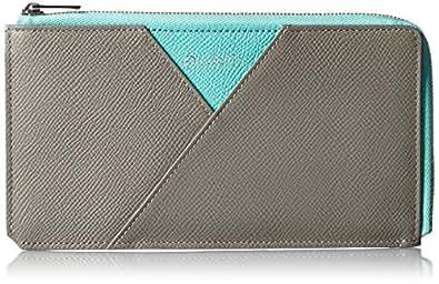 [アルベルテバイユハク] YUHAKU L字ファスナー長財布 ASB124 GY / ICE (グレージュ / アイスブルー)
