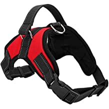 Oneflower Dog Harness No-Pull Pet Vest Harness Adjustable & Durable Dog Leash Harness with Reflective Material Vest for Easy Control Dogs,Perfect for Training Walking (XL (28.5''-35.8'' Chest Girth))