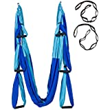 Yoga Swing Decompression Hammock Ultra Strong Antigravity Yoga Hammock/Inversion/Trapeze/Sling Exercises Equipment - Two Extender Hanging Straps with a Carrying Bag