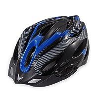 バイクサイクリングロードバイク非一体形ヘルメットユニセックススタイルワンサイズ54-60cm (色 : Blue+Black)