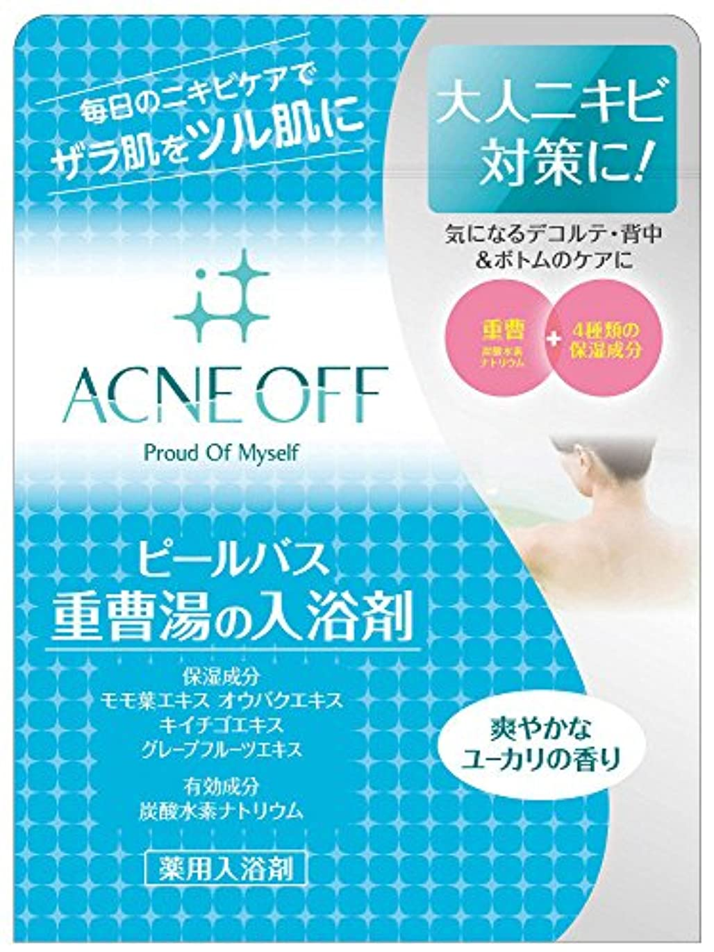 バトル厳息切れマックス 薬用アクネオフ 重曹湯の入浴剤 500g (医薬部外品)