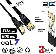 ATZ 2m Cat 7 STP FLAT Gigabit Ethernet Lan Network Patchcord Cable-2m