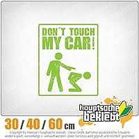 Dont touch my car - 3つのサイズで利用できます 15色 - ネオン+クロム! ステッカービニールリアウインドウ