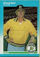 野球MLB 1987Fleer # 386Doug Bair Athletics