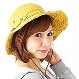 帽子 春夏 レディース サファリハット (GREEN)【SK4102】アウトドアファッション UV対策 紐付きで風が強い日でも安心