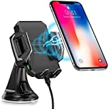 Wireless Car Charger,CHOETECH Fast Wireless Charger Car Phone Holder WIreless Car Phone Charger Mount Fast Charging Compatible with iPhone XS / XS Max / XR / X / 8 Plus / 8, Samsung S9, S9+ , Note 8, S8, S8+, S7, S7 Edge, S6 Edge+, Note 5 and other Qi-Ena