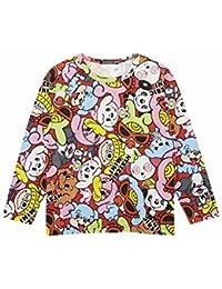 (ヒステリックミニ) Hysteric Mini TARE MINI総柄 コーマ天竺長袖Tシャツ
