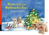 Ricas schoenstes Weihnachtsfest. Ausgabe mit einem Stoffschaf: Ein Folien-Adventskalender zum Vorlesen und Gestalten eines Fensterbildes