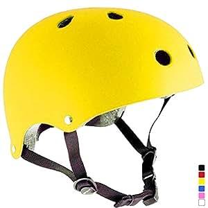 praise スポーツ ヘルメット 子供用 スケボー ジュニアヘルメット 自転車 キッズ こども用 ローラーブレード ブレイブボード 子供乗せ自転車 イエロー S