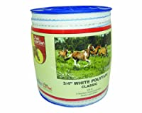 Field Guardian Classic Polytape, 3/4-Inch, White by Field Guardian