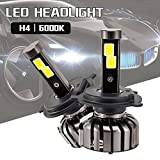 N7 車用LEDヘッドライトバルブ H4 ヘッドライト 電球 キット Hi/Lo LED COB CHIP 80w 8000LM 6000K ファン付き 防水IP68 チップ搭載 LEDバルブ 変換 キット 12v 置き換 車 ハロゲン ライト HID 体型 ホワイト