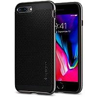 【Spigen】 スマホケース iPhone8 Plus ケース / iPhone7 Plus ケース 対応 二重構造 バンパー 米軍MIL規格取得 耐衝撃 ネオ・ハイブリッド2 055CS22373 (ガンメタル)
