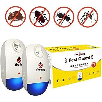 FIVE RING 超音波害虫駆除 360°シャットアウト ネズミやゴキブリ害虫に有効・全米大ヒット子供やペットにも安心・低消費電力設計 FR-055 (2個セット)
