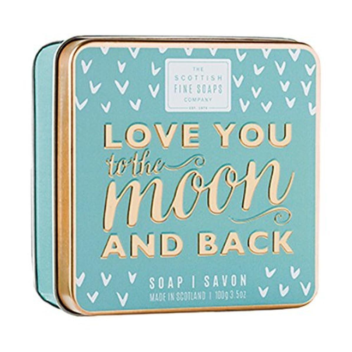 残るリサイクルする洗剤Scottish Fine Soaps Love You To The Moon & Back Soap Tin 100g