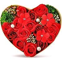 ハロウィン バラ型ソープフラワー ハートフラワー形状ギフトボックス 誕生日 母の日 記念日 先生の日 バレンタインデー 昇進 転居など最適としてのプレゼント