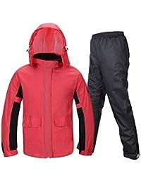 大人 ピンク セット ハイキング レインコート 女性 分割 乗る 厚い (サイズ : L)