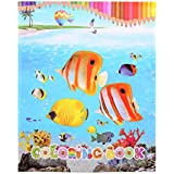 JAGENIE Creative Tropical Fish Coloring Book Painting Graffiti For Children Education