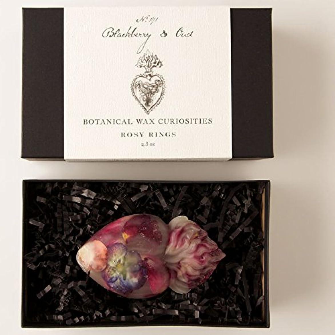 バッジ翻訳する立方体ロージーリングス ボタニスト ボタニカルワックスキュリオシティ ブラックベリーウード ROSY RINGS Botanist Collection Botanical Wax Blackberry & Oud