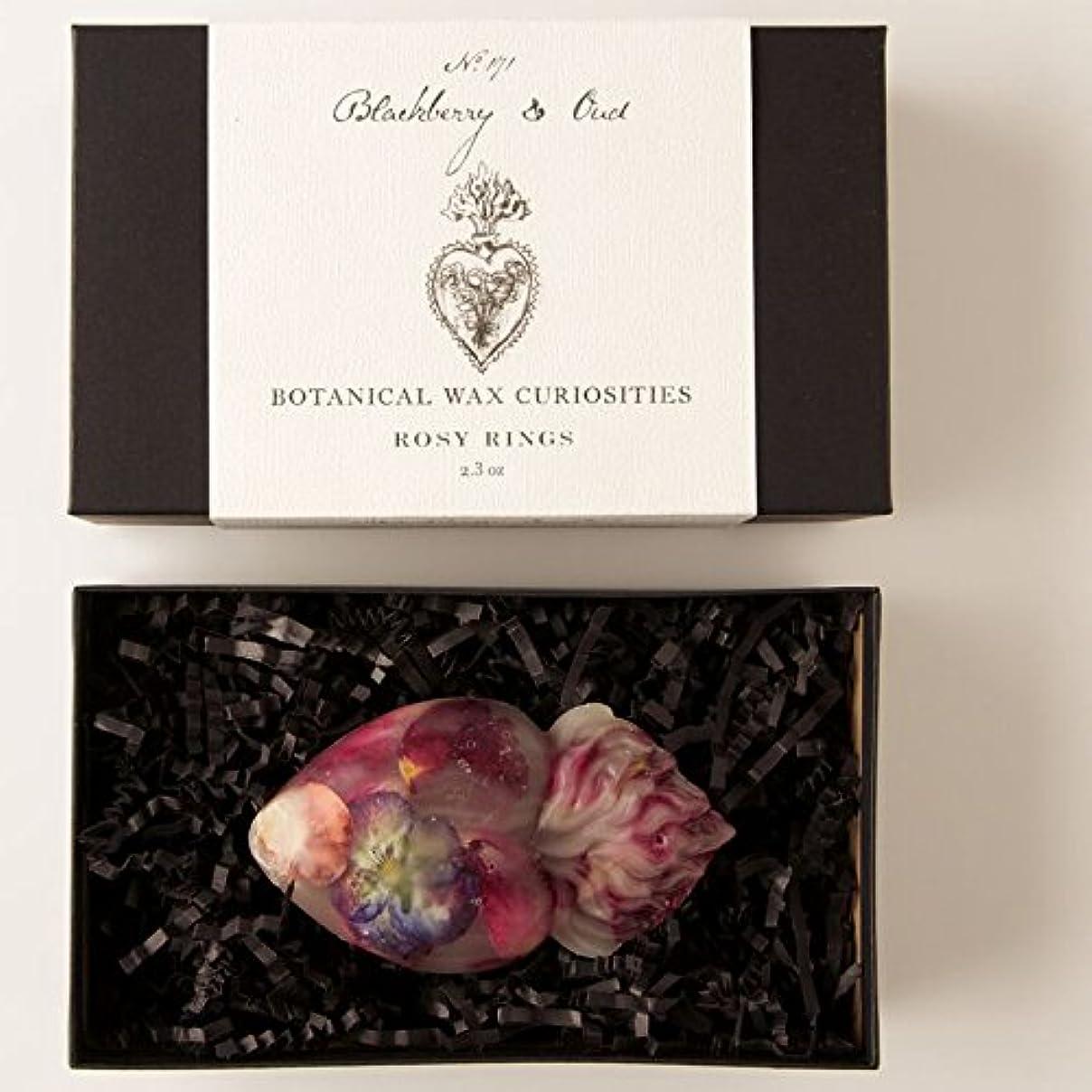 混乱した監査トンロージーリングス ボタニスト ボタニカルワックスキュリオシティ ブラックベリーウード ROSY RINGS Botanist Collection Botanical Wax Blackberry & Oud