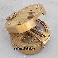 Nautical Brunton Compass withミラーアンティーク真鍮ヴィンテージ