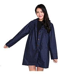 PENGFEI 防水 レインコートポンチョ ポンチョ レインコート ジャケット シャム キャップ付き ライディング 薄いセクション 徒歩で 通気性のある、 2色、 2サイズ (色 : 濃紺, サイズ さいず : M)