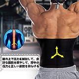Sawaiko腰サポーター サポートベルト 筋トレコルセット 通気性抜群 ダイエット 腹筋トレスポーツ いたみ緩和 矯正 保護 加圧 伸縮 メンズ 画像
